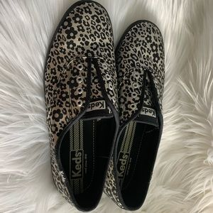Keds Shoes - Keds Metallic Animal & Floral Print No Laces Shoes
